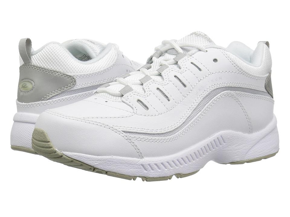 Easy Spirit Romy (White/Light Grey Leather) Women's Walking Shoes