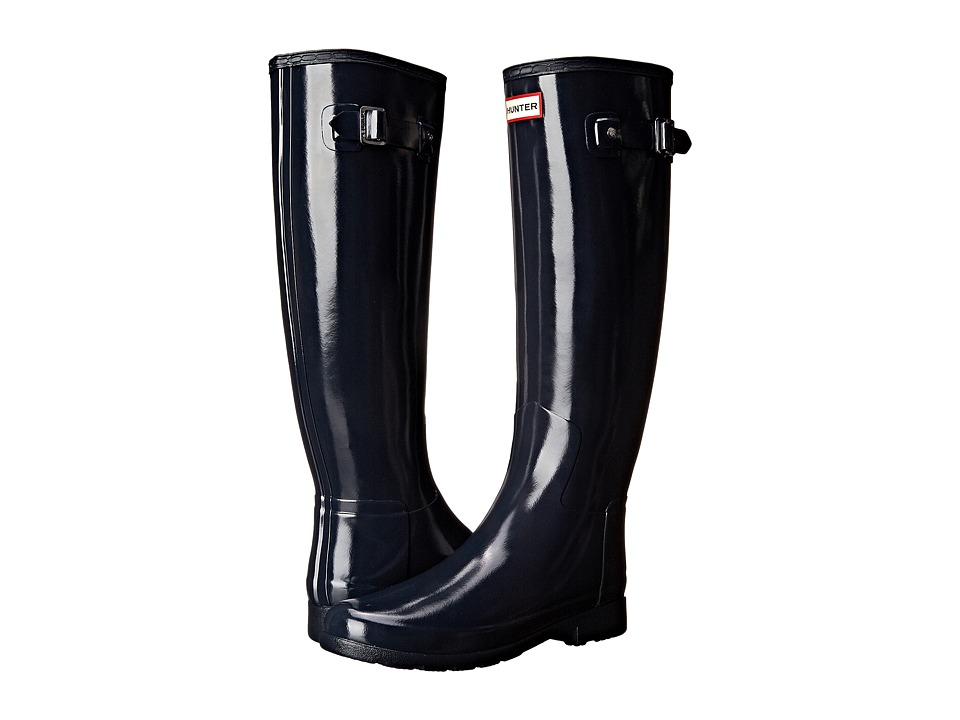 Hunter Original Refined Gloss Rain Boots (Navy) Women