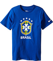 Nike Kids - Brazil CBF Crest T-Shirt (Little Kids/Big Kids)