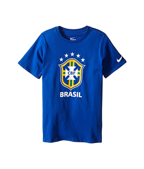Nike Kids Brazil CBF Crest T-Shirt (Little Kids/Big Kids)