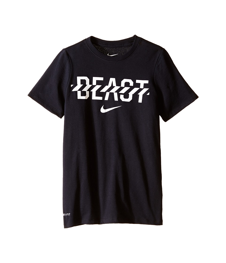 Nike Kids Beast Tee Little Kids/Big Kids Black/White Boys T Shirt