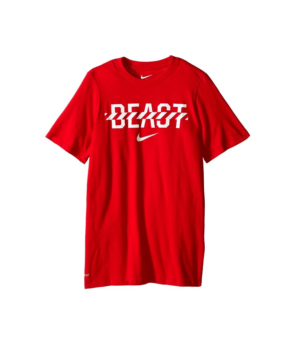 Nike Kids Beast Tee Little Kids/Big Kids University Red/White Boys T Shirt