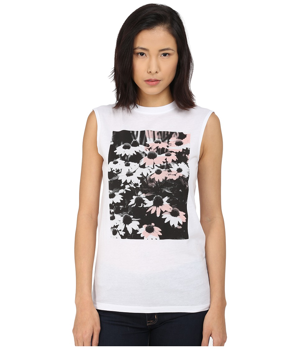 McQ Boyfriend Tank Top Optic White Womens Sleeveless
