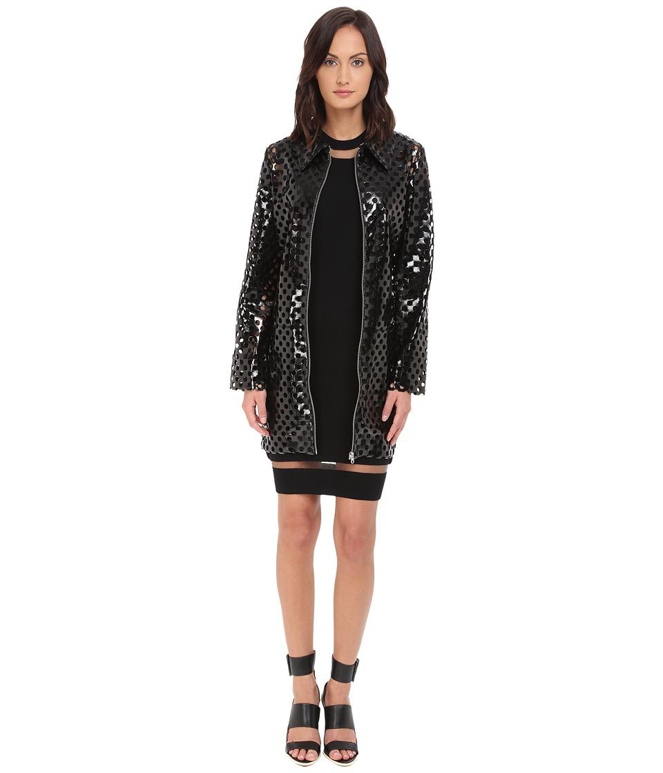 McQ Boxy Coat Black Womens Coat