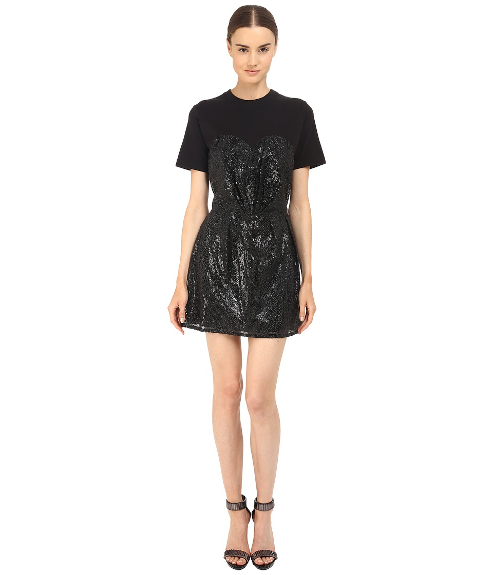 McQ Bustier T Shirt Dress Black/Black Womens Dress