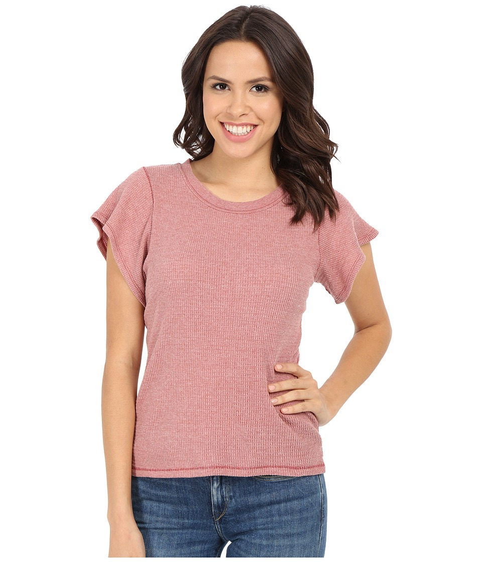 Free People Basic Thermal Flutter Tee Red Clay Womens T Shirt