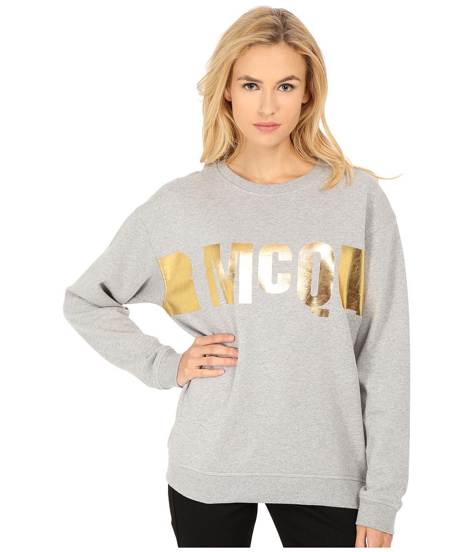 McQ Classic Sweatshirt Grey Melange Womens Sweatshirt