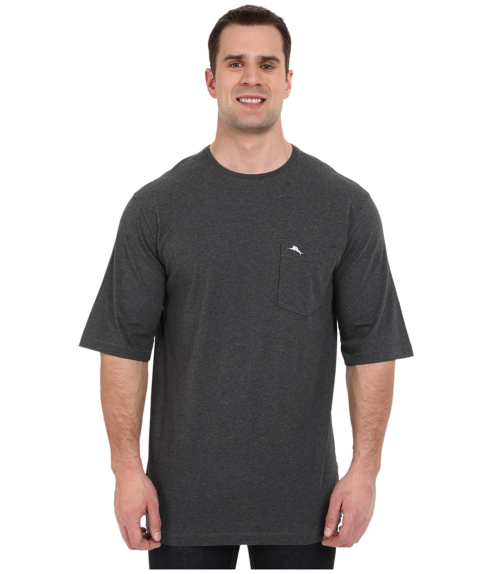 Tommy Bahama Big & Tall - Big Tall New Bali Skyline T-Shirt (Charcoal Heather) Mens T Shirt
