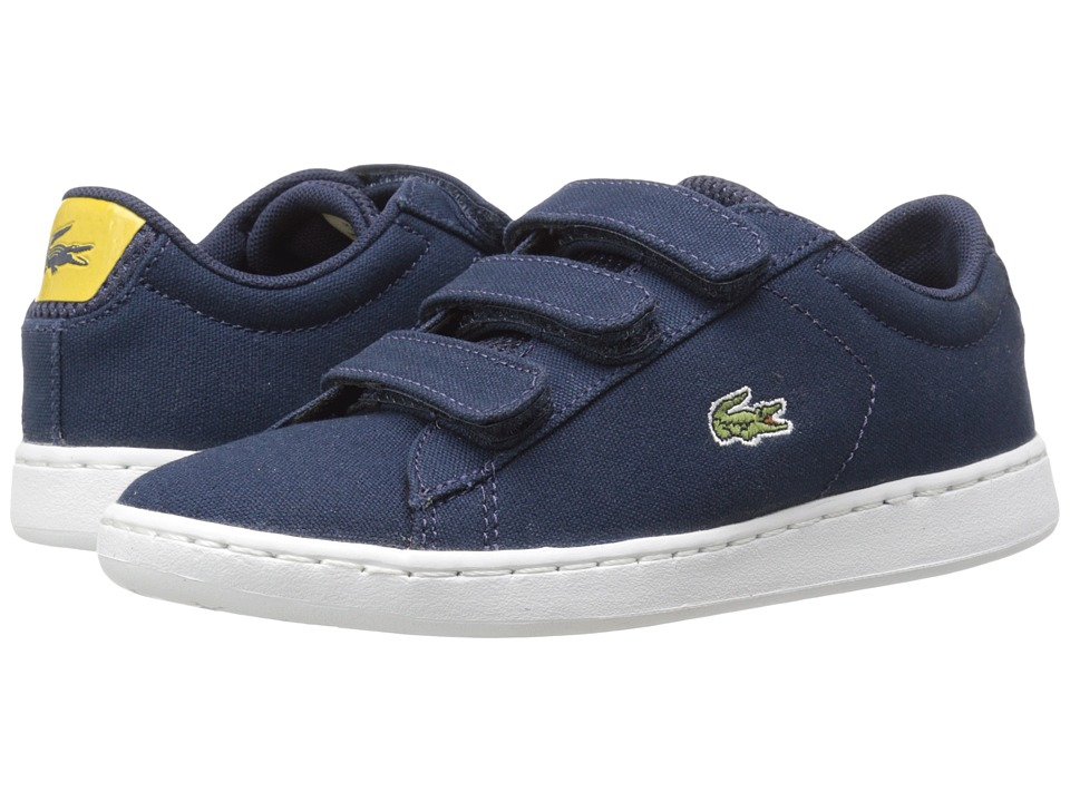 Lacoste Kids Carnaby Evo 216 1 SP16 Little Kid Navy Kids Shoes