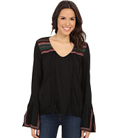 Rock and Roll Cowgirl - Long Sleeve Peasant Top B4-5369