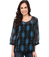 Rock and Roll Cowgirl - 3/4 Sleeve Top B4-4457