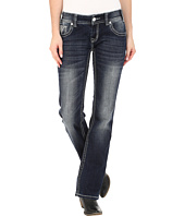 Rock and Roll Cowgirl - Low Rise Bootcut in Dark Vintage W0-5608