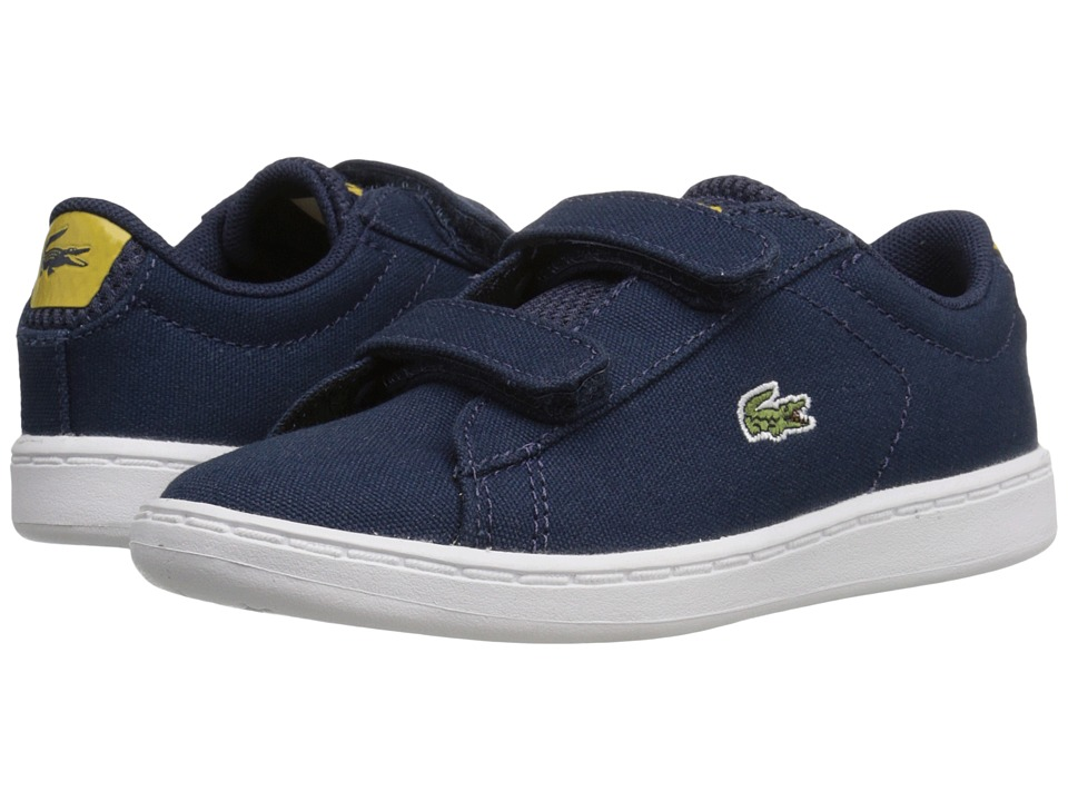Lacoste Kids Carnaby Evo 216 1 SP16 Toddler/Little Kid Navy Kids Shoes
