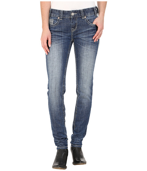 Rock and Roll Cowgirl Low Rise Skinny in Medium Vintage W0S5611