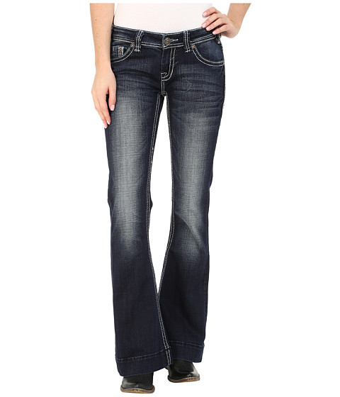 Rock and Roll Cowgirl Trouser Low Rise in Dark Vintage W8-5640