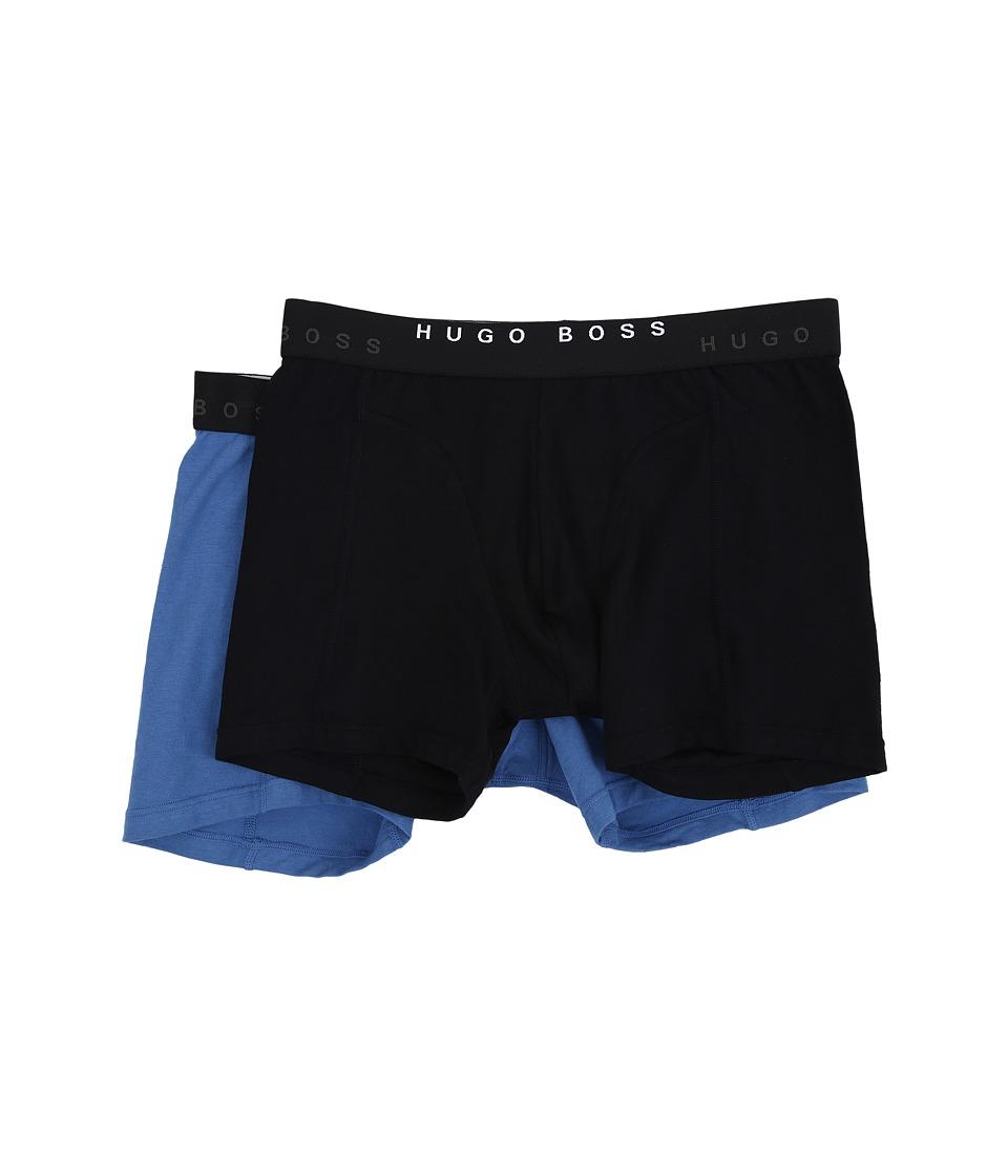BOSS Hugo Boss Cyclist 2 Pack Black/Blue Mens Underwear