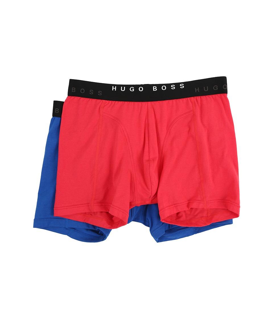 BOSS Hugo Boss Cyclist 2 Pack Red/Blue Mens Underwear