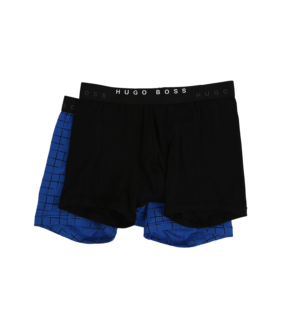 BOSS Hugo Boss Cyclist 2 Pack Plaid Black/Blue Mens Underwear