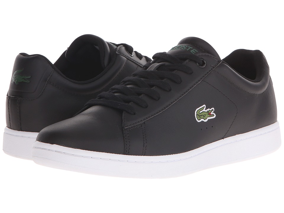 Lacoste - Carnaby Evo LCR (Black) Mens Shoes