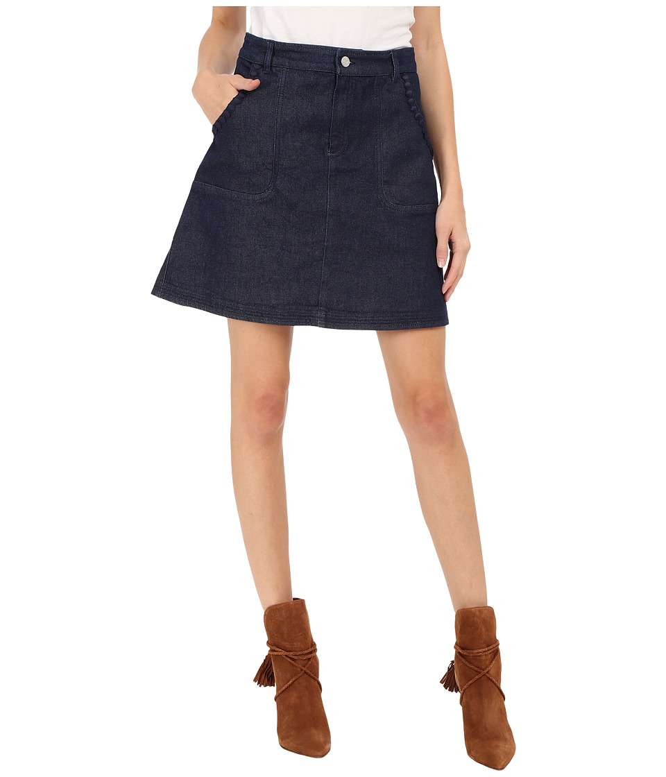 See by Chloe Embellished Denim Skirt Indigo Womens Skirt