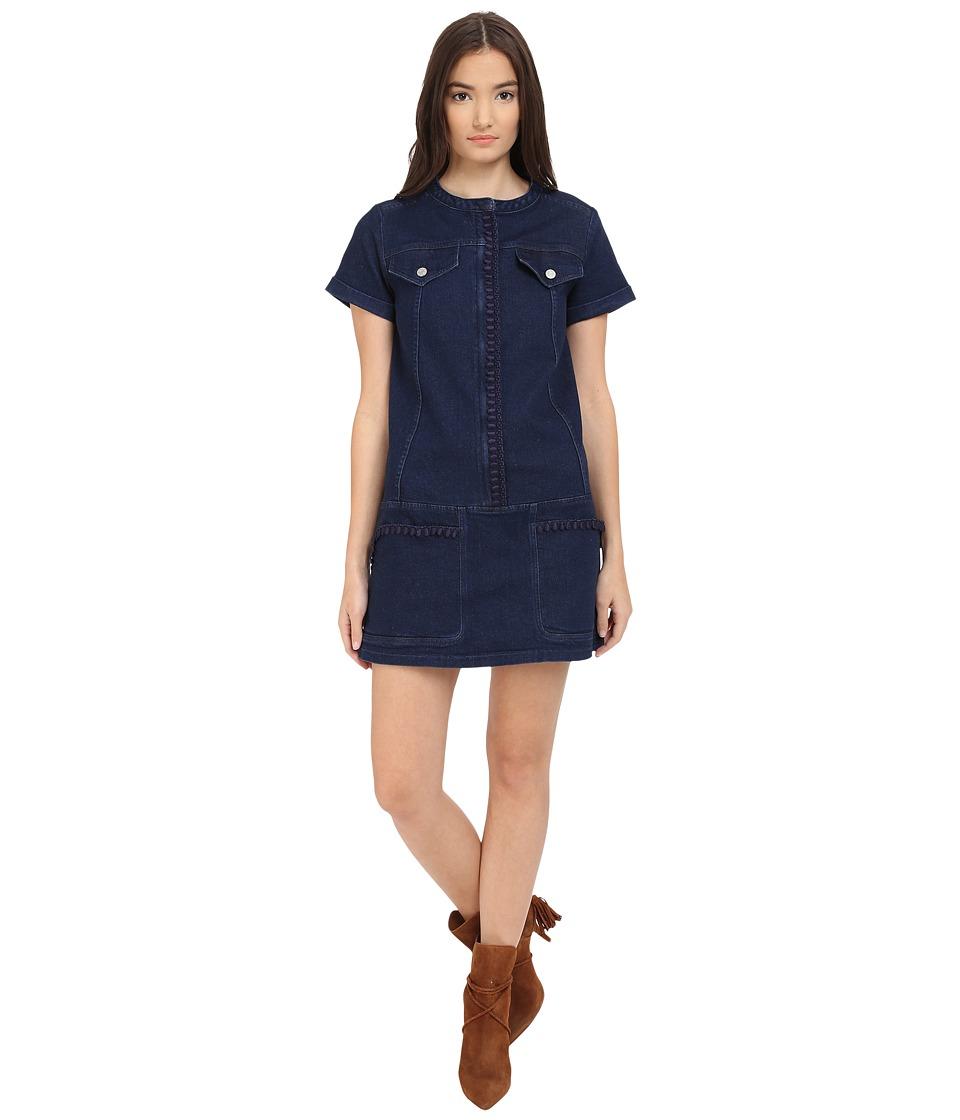 See by Chloe Embellished Denim Dress Indigo Womens Dress