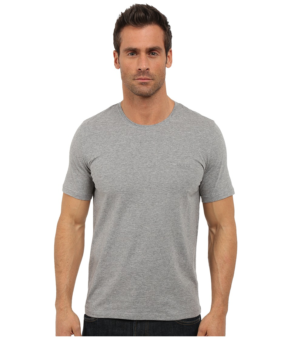 BOSS Hugo Boss - Short Sleeve Crew Basic Boss Tee (Open Grey) Men