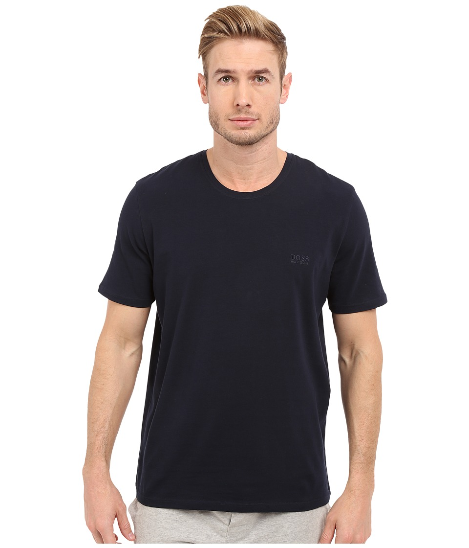 BOSS Hugo Boss - Short Sleeve Crew Basic Boss Tee (Navy) Men