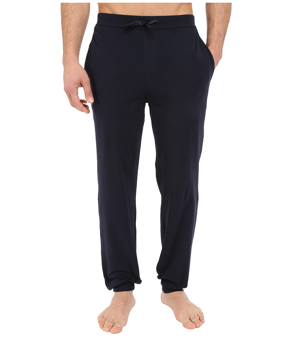 BOSS Hugo Boss Mix and Match Long Pants Cuffed Navy Mens Pajama