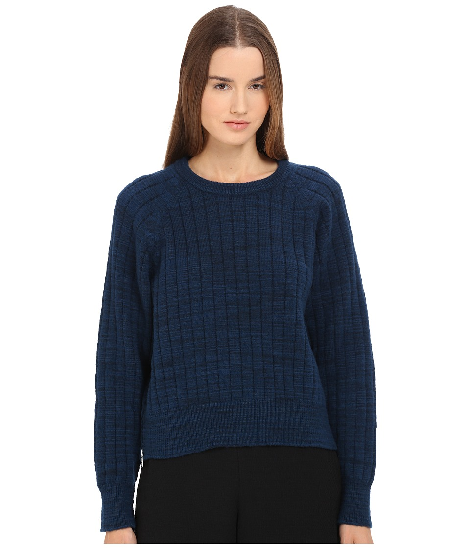 See by Chloe Felted Knit Pullover Electric Blue Womens Sweater