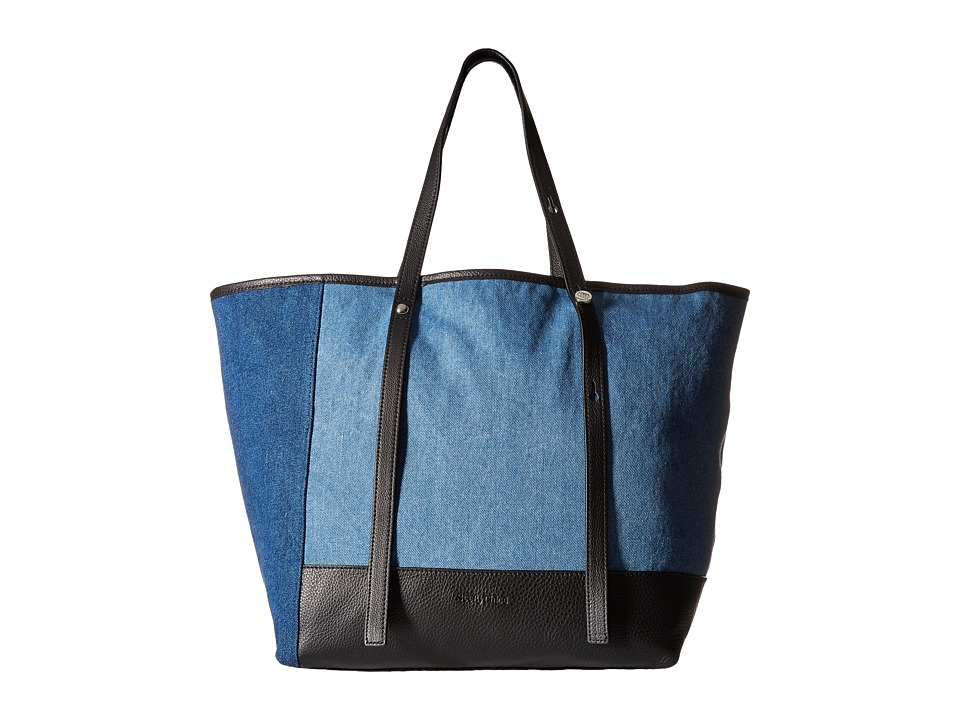 See by Chloe Denim Patchwork Tote Denim Tote Handbags