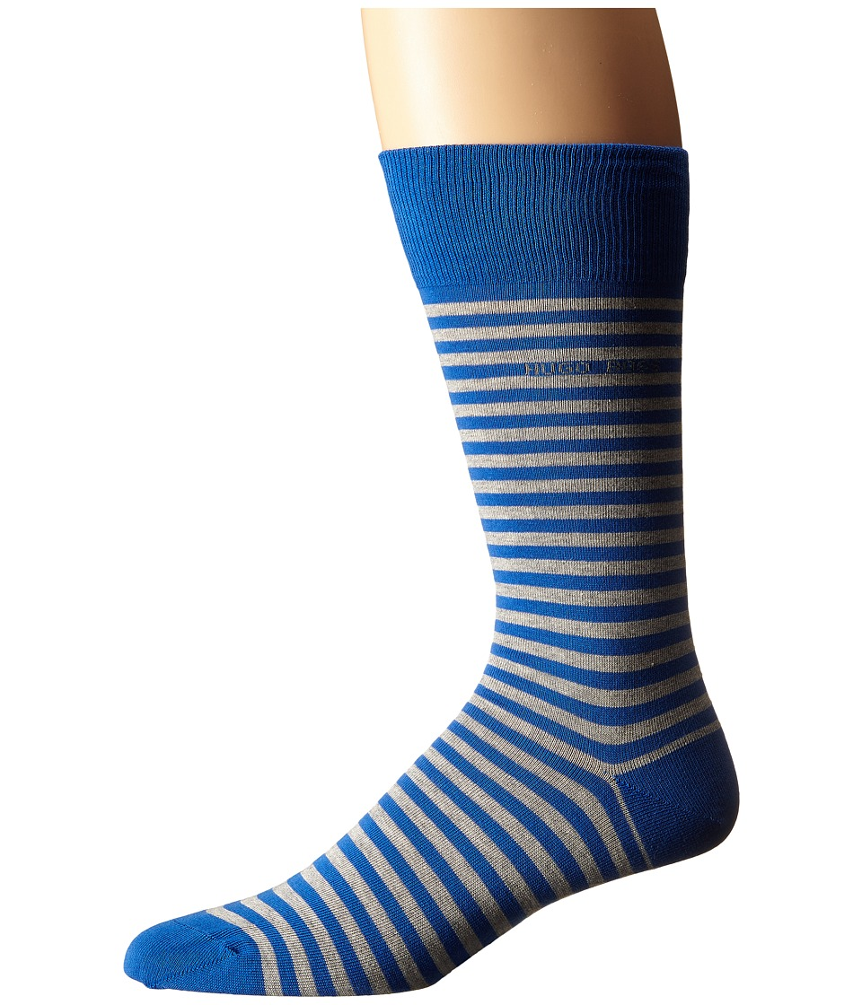BOSS Hugo Boss Marc Design Royal Blue Mens Crew Cut Socks Shoes