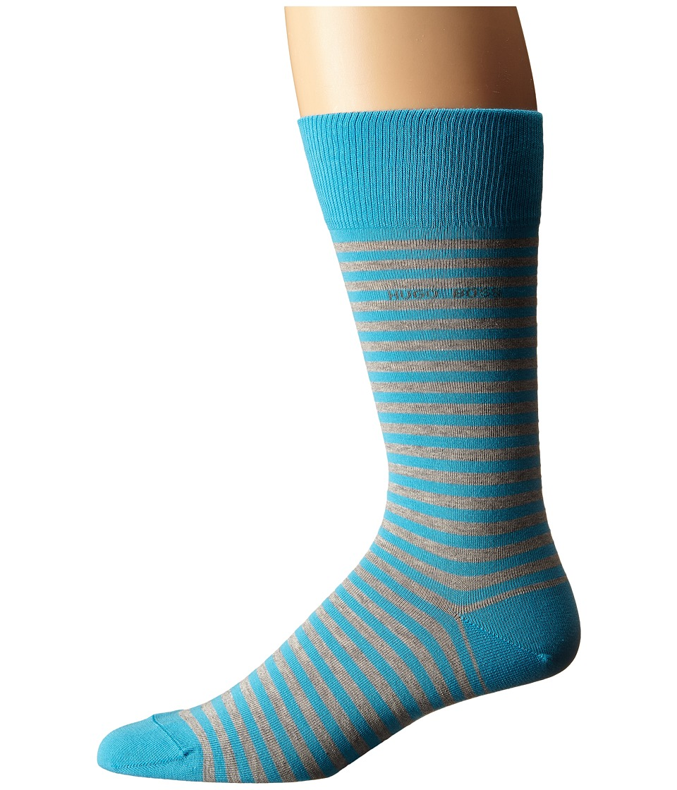 BOSS Hugo Boss Marc Design Teal Mens Crew Cut Socks Shoes