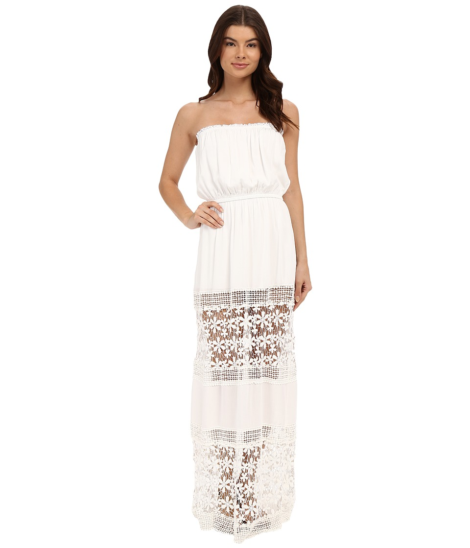 6 Shore Road by Pooja Charlotte Maxi Dress Cover Up Moonlight White Womens Swimwear