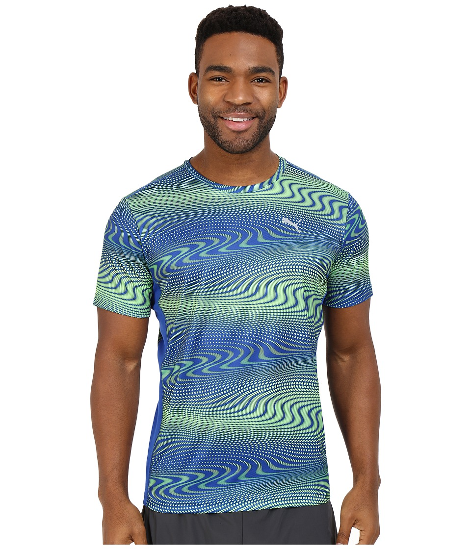 PUMA - Essential Graphic Tee (Surf The Web/Green Gecko) Men