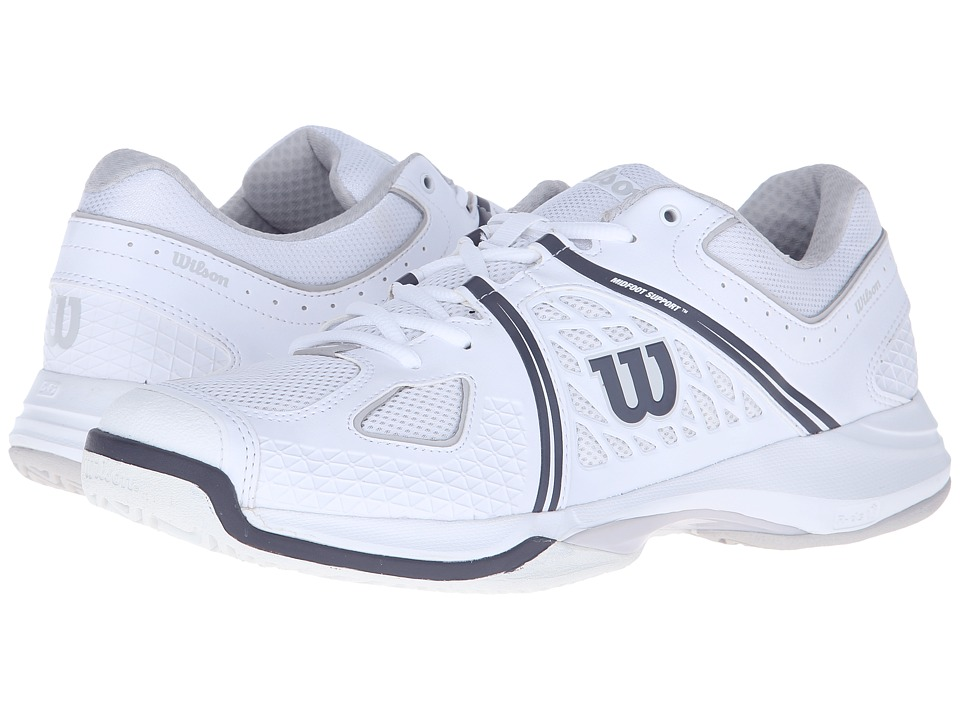 Wilson Nvision White/Gray/Coal Mens Tennis Shoes