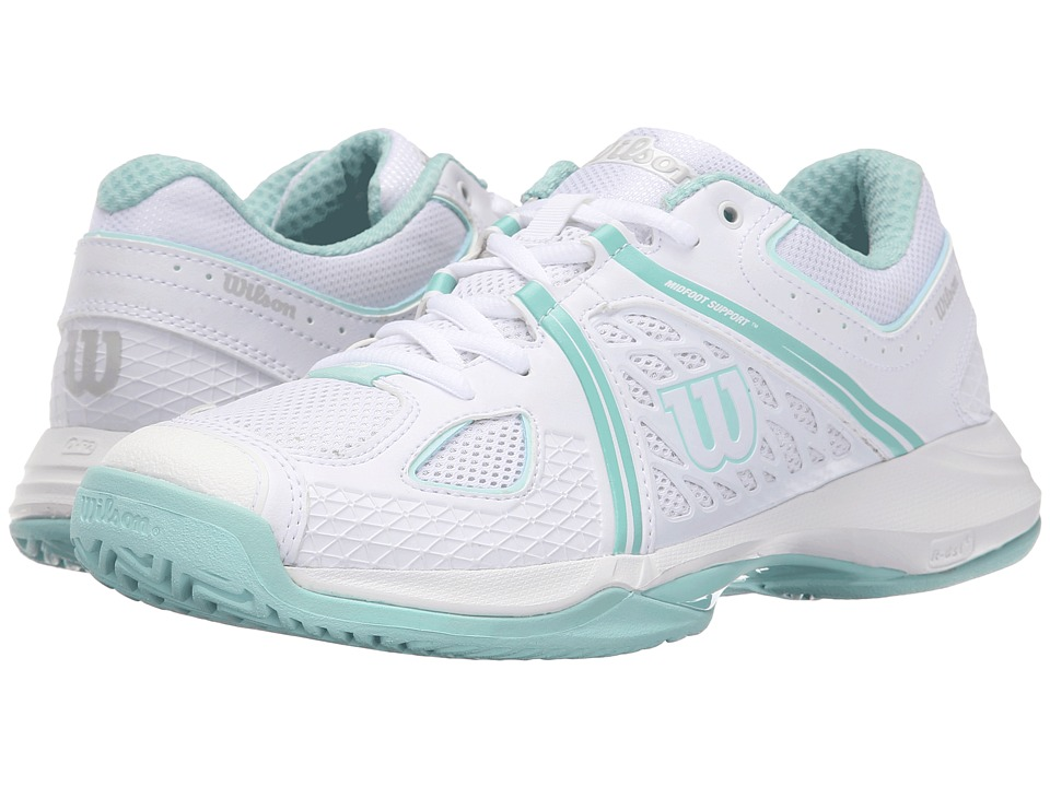 Wilson Nvision White/Aruba Blue/Mint Ice Womens Tennis Shoes