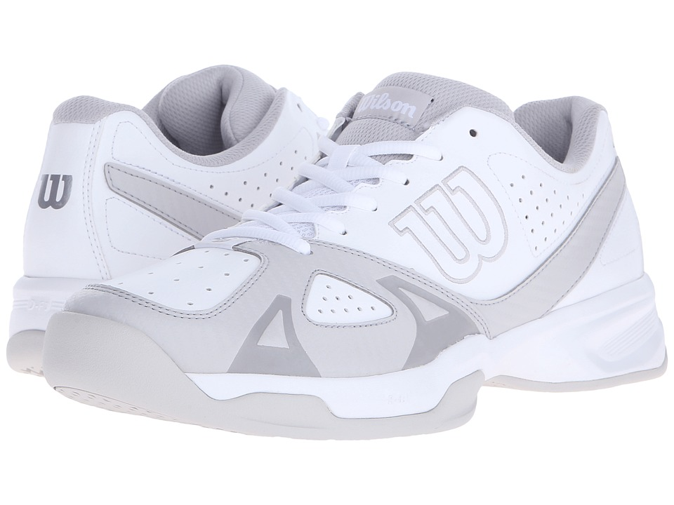 Wilson - Rush Open 2.0 (White/Gray) Mens Tennis Shoes