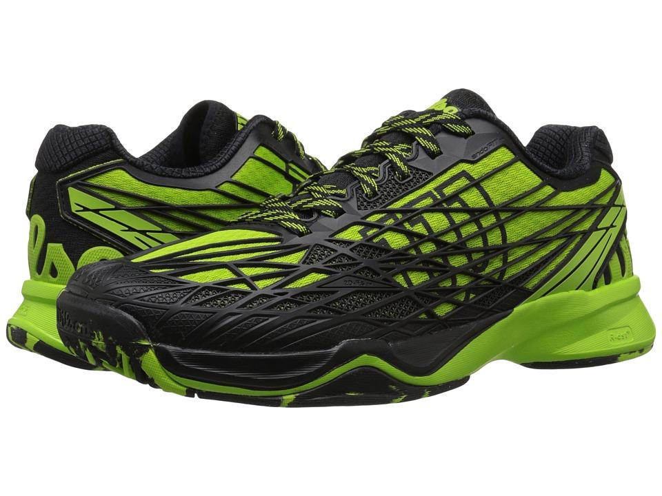 Wilson Kaos Green/Black Mens Tennis Shoes