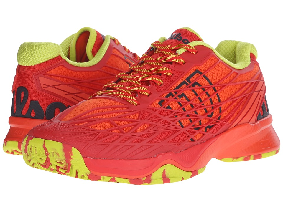 Wilson Kaos Red/Solar Lime Mens Tennis Shoes