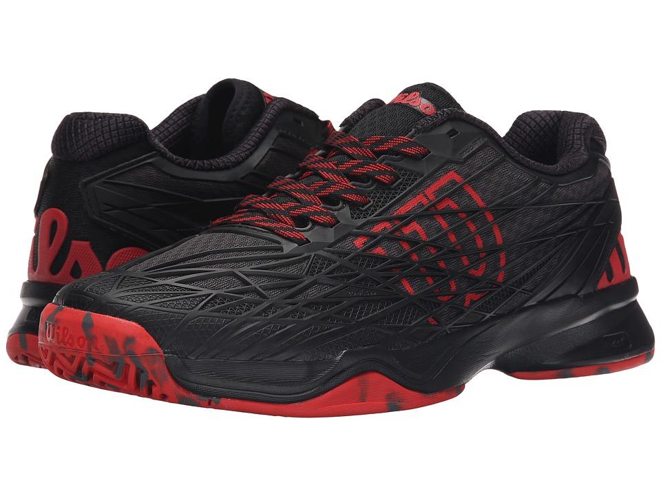 Wilson Kaos Black/Black/Red Mens Tennis Shoes