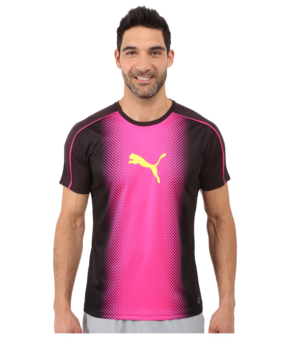 PUMA - IT evoTRG Cat Graphic Tee (Black/Pink Glo) Men
