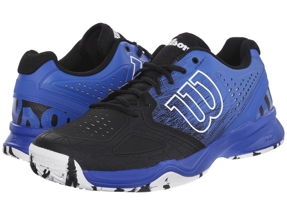 Wilson Kaos Comp Black/Blue Iris/White Mens Tennis Shoes