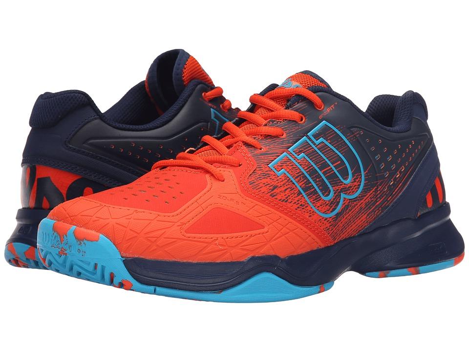 Wilson Kaos Comp Red/Navy/Suba Blue Mens Tennis Shoes