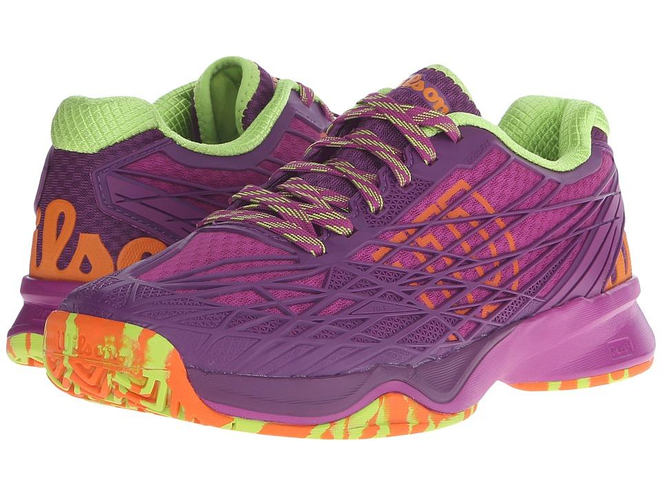 Wilson Kaos Pink/Dark Plumberry/Green Womens Tennis Shoes