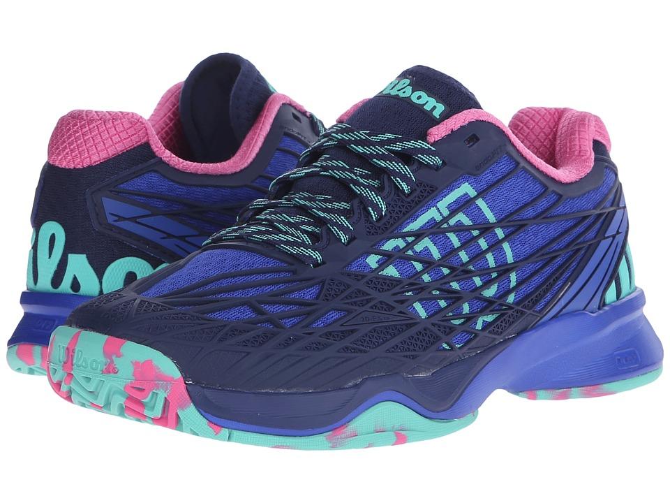 Wilson Kaos Blue Iris/Navy/Pink Womens Tennis Shoes