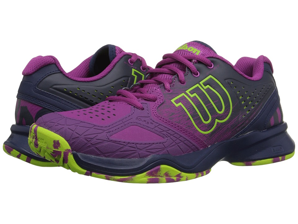 Wilson Kaos Comp Pink/Navy/Green Womens Tennis Shoes