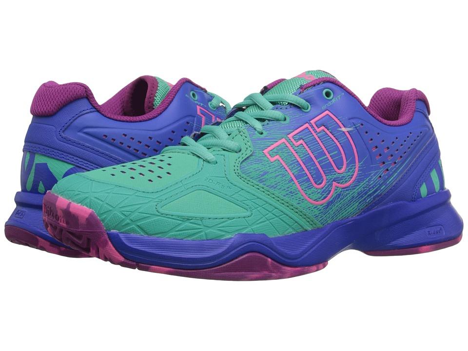 Wilson Kaos Comp Aquagreen/Blue Iris/Pink Womens Tennis Shoes