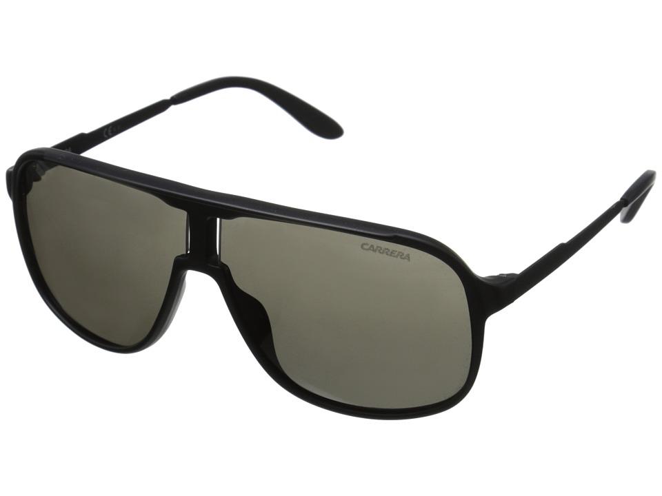 Carrera New Safari/S (Matte Black/Shiny Black/Brown Grey) Fashion Sunglasses