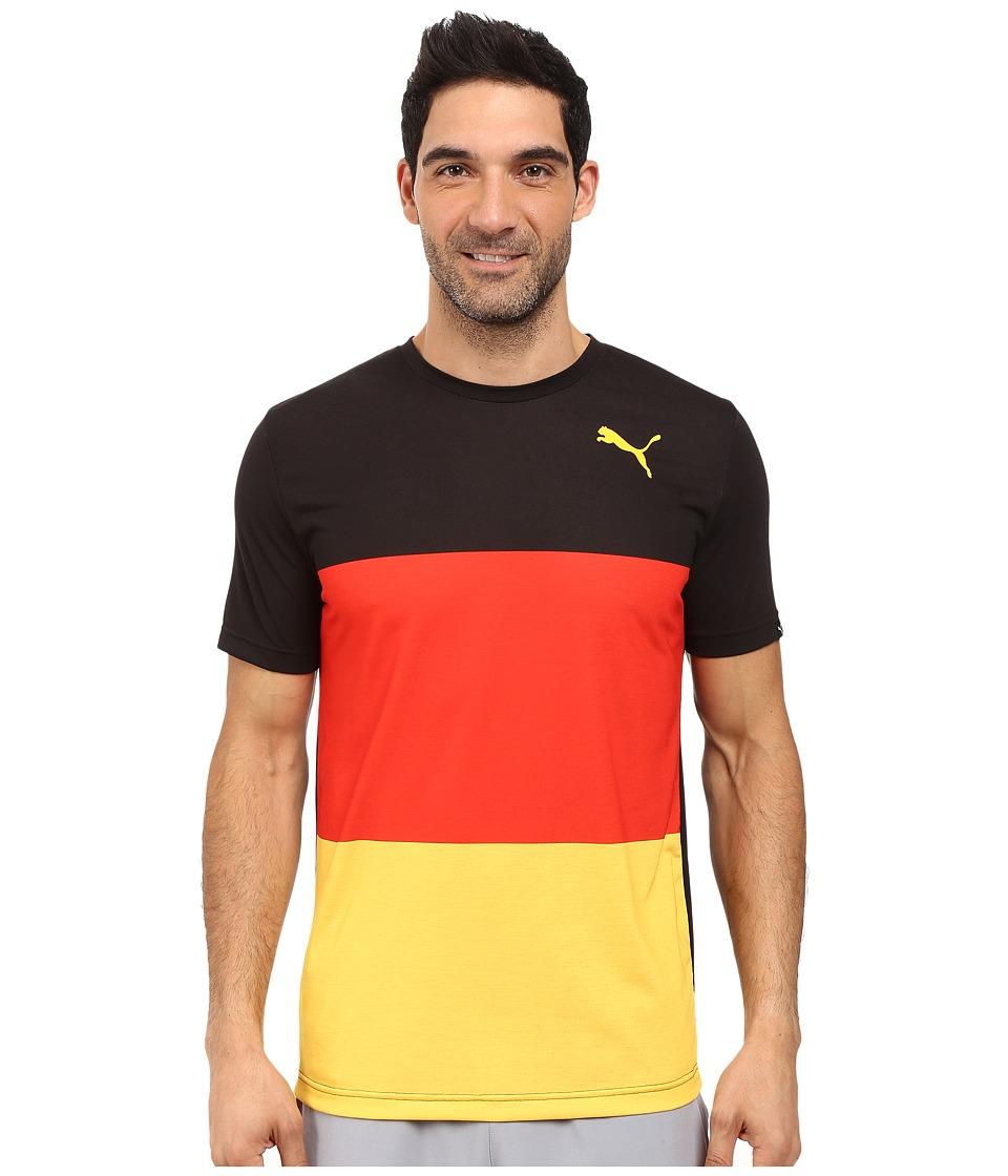 PUMA - Fan Wow Tee (Black - Germany) Men