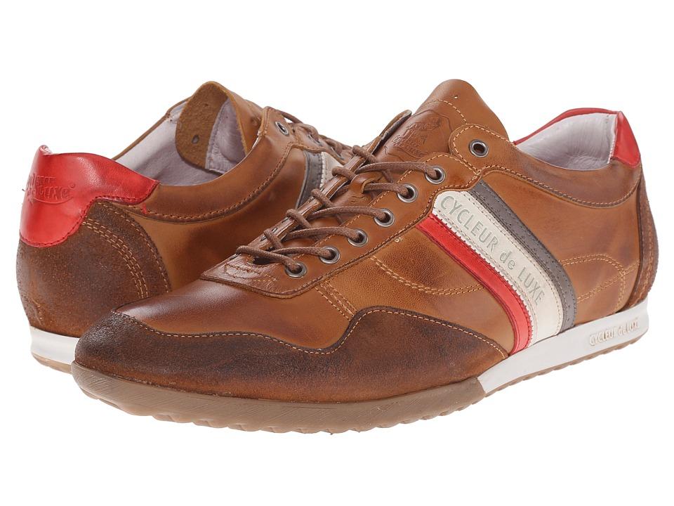 Cycleur de Luxe Crash Cognac/Scarlet/Off White Mens Shoes